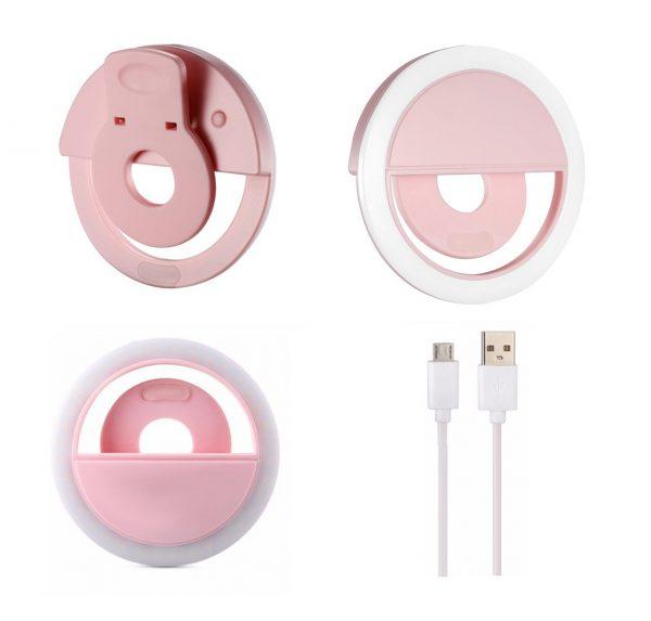 رینگ لایت سلفی گوشی قابل شارژ